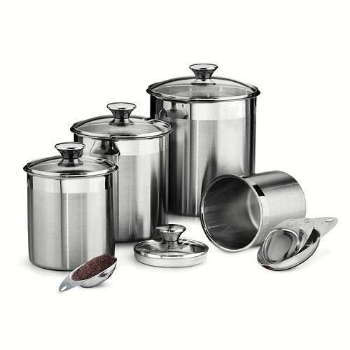 Tramontina gourmet 8 pc stainless steel kitchen canister set for 8 pc kitchen set