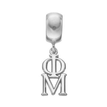 LogoArt Sterling Silver Phi Mu Sorority Charm