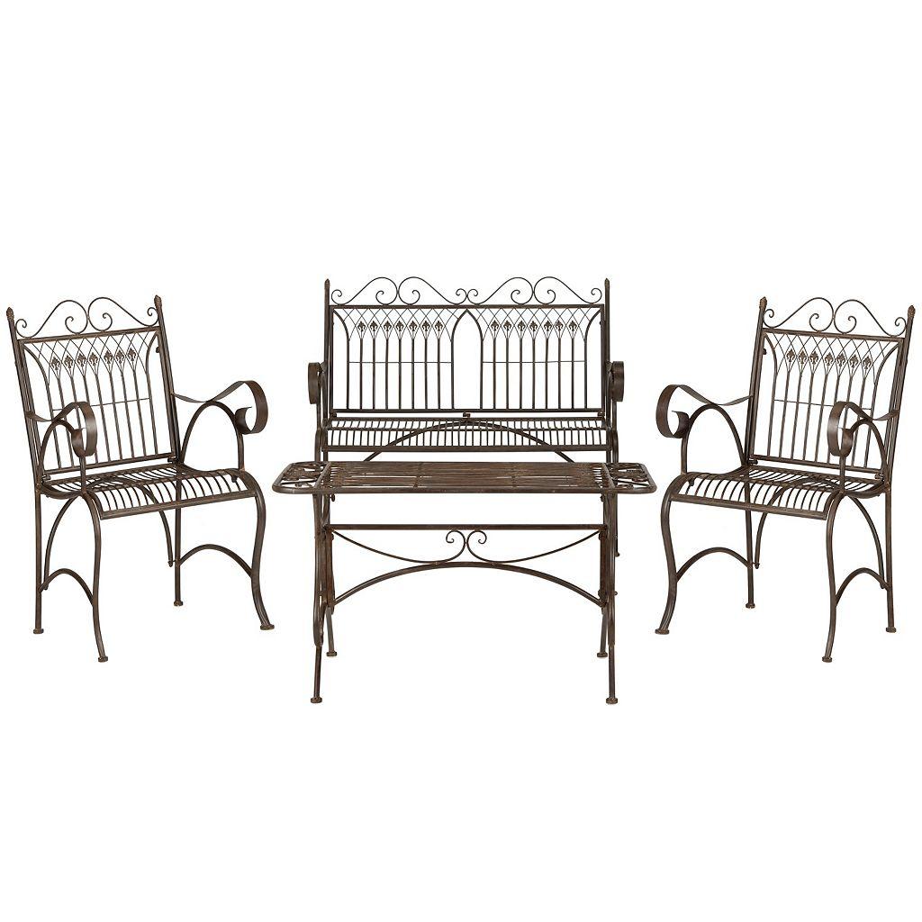 Safavieh Leah 4-piece Outdoor Furniture Set