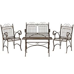 Safavieh Leah 4 pc Outdoor Furniture Set