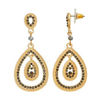 GS by gemma simone Black Swan Collection Teardrop Earrings