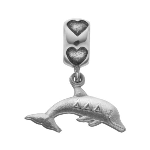 LogoArt Sterling Silver Delta Delta Delta Sorority Dolphin Charm