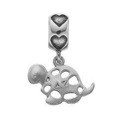 LogoArt Sterling Silver Delta Zeta Sorority Turtle Charm