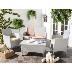 Safavieh Mojavi 4-piece Outdoor Wicker Furniture Set