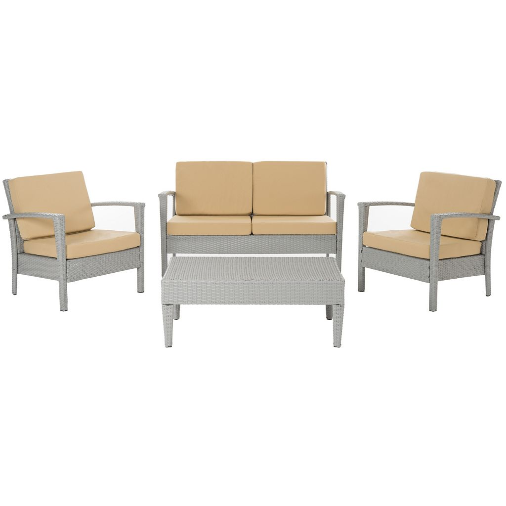 Safavieh Piscataway 4-piece Outdoor Furniture Set