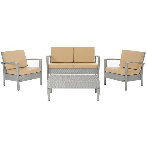Safavieh Piscataway 4-piece Outdoor Furniture Set