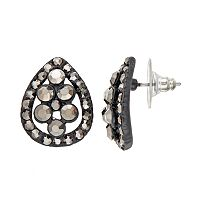 GS by gemma simone Black Swan Collection Teardrop Stud Earrings