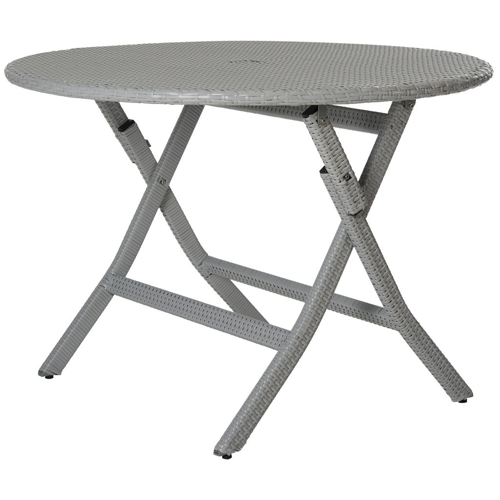 Safavieh Ellis Round Gray Folding Table