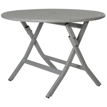 Safavieh Ellis Round Gray Folding Table