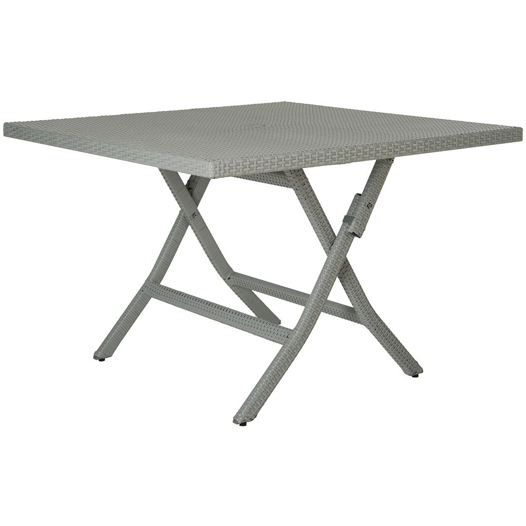 Safavieh Samana Square Gray Folding Table