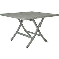 Safavieh Samana Square Gray Folding Table