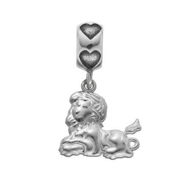 LogoArt Sterling Silver Phi Mu Sorority Lion Charm