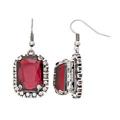 GS by gemma simone Atomic Age Collection Rectangle Drop Earrings