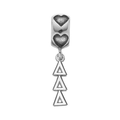 LogoArt Sterling Silver Delta Delta Delta Sorority Symbol Charm