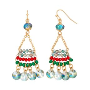 GS by gemma simone Sedona Sunset Collection Bead Drop Earrings