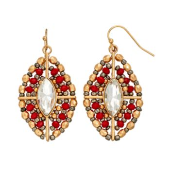 GS by gemma simone Sedona Sunset Collection Bead Marquise Drop Earrings