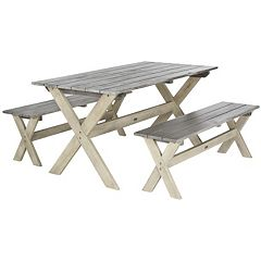 Safavieh Marina 3 pc Outdoor Picnic Set