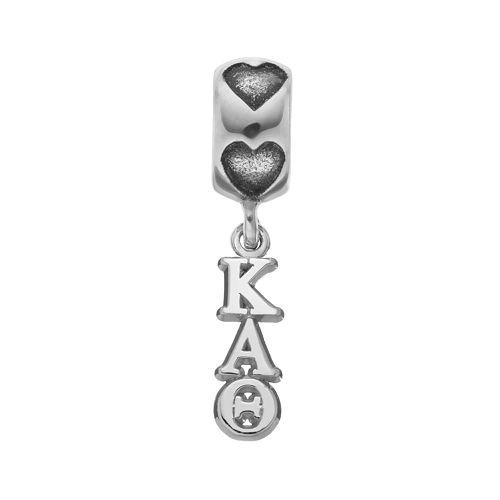 LogoArt Sterling Silver Kappa Alpha Theta Sorority Symbol Charm