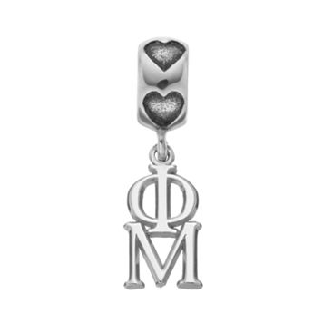LogoArt Sterling Silver Phi Mu Sorority Symbol Charm