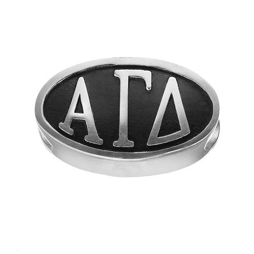 LogoArt Alpha Gamma Delta Sterling Silver Oval Bead