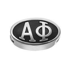 LogoArt Alpha Phi Sterling Silver Oval Bead