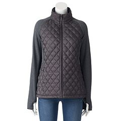 Women's Weathercast Quilted Stretch Fleece Raglan Jacket