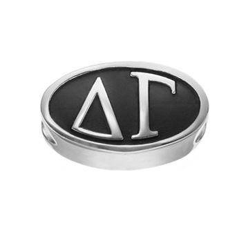LogoArt Delta Gamma Sterling Silver Oval Bead