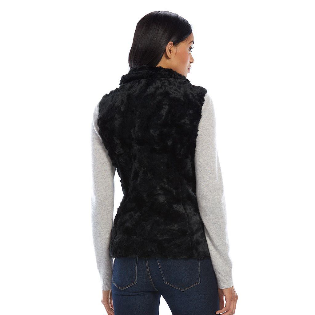 Women's Weathercast Faux-Fur Vest