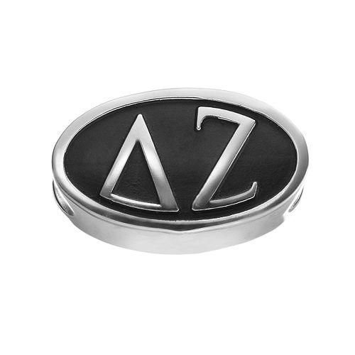 LogoArt Delta Zeta Sterling Silver Oval Bead