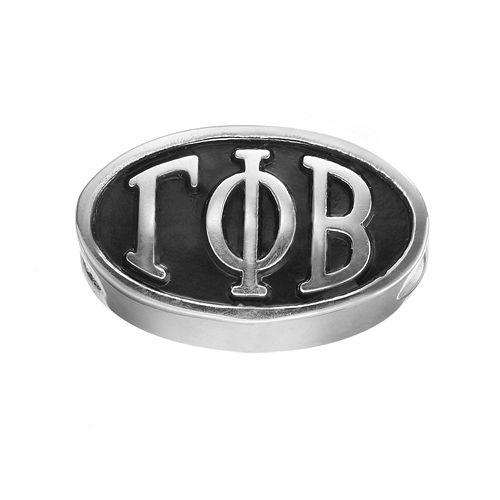 LogoArt Gamma Phi Beta Sterling Silver Oval Bead