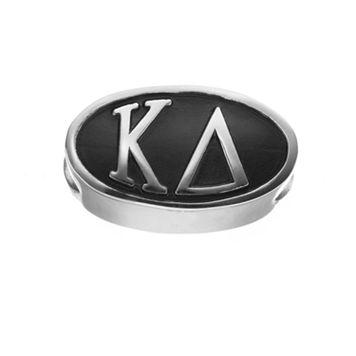 LogoArt Kappa Delta Sterling Silver Oval Bead