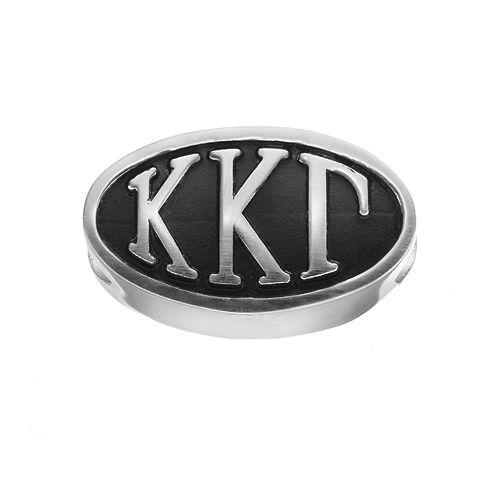 LogoArt Kappa Kappa Gamma Sterling Silver Oval Bead