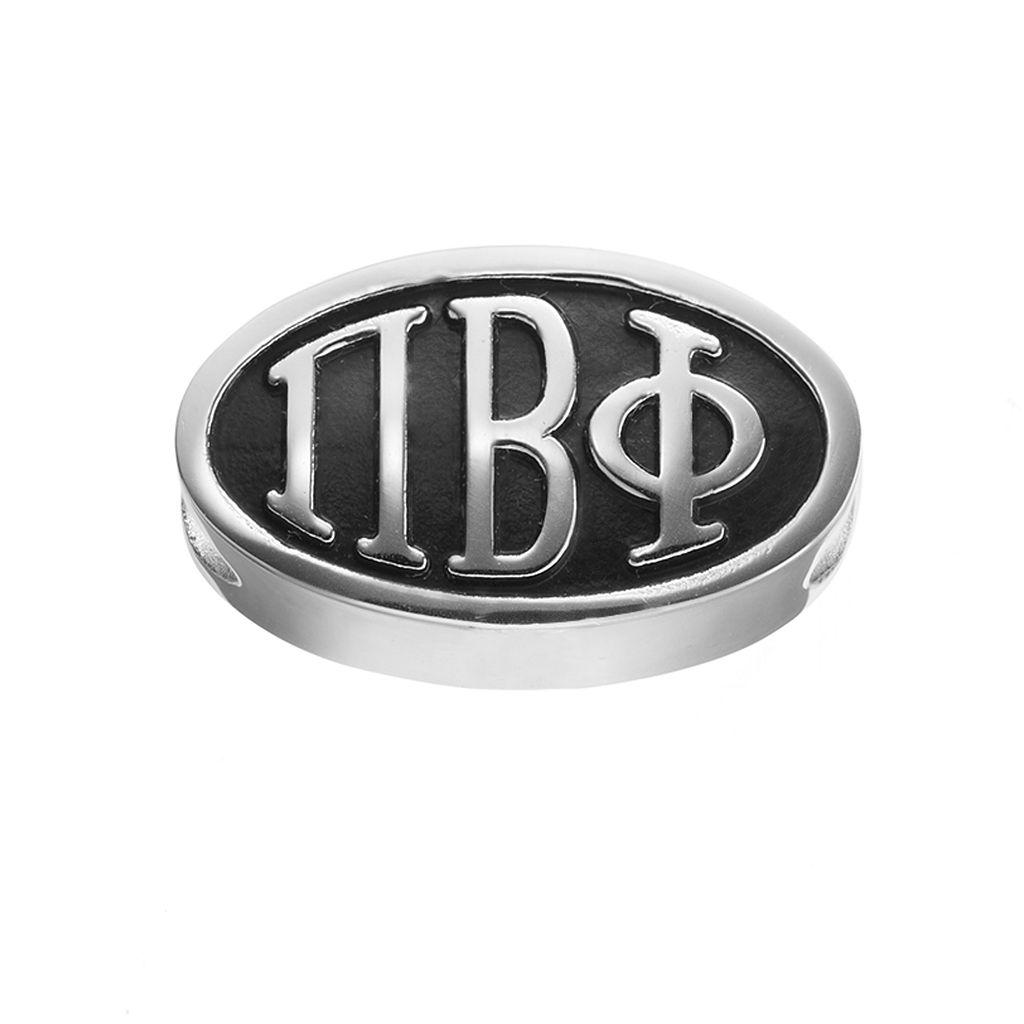 LogoArt Pi Beta Phi Sterling Silver Oval Bead