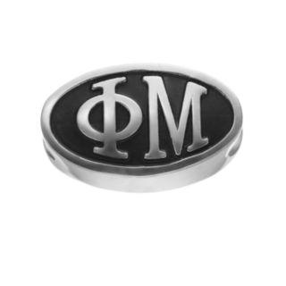LogoArt Phi Mu Sterling Silver Oval Bead