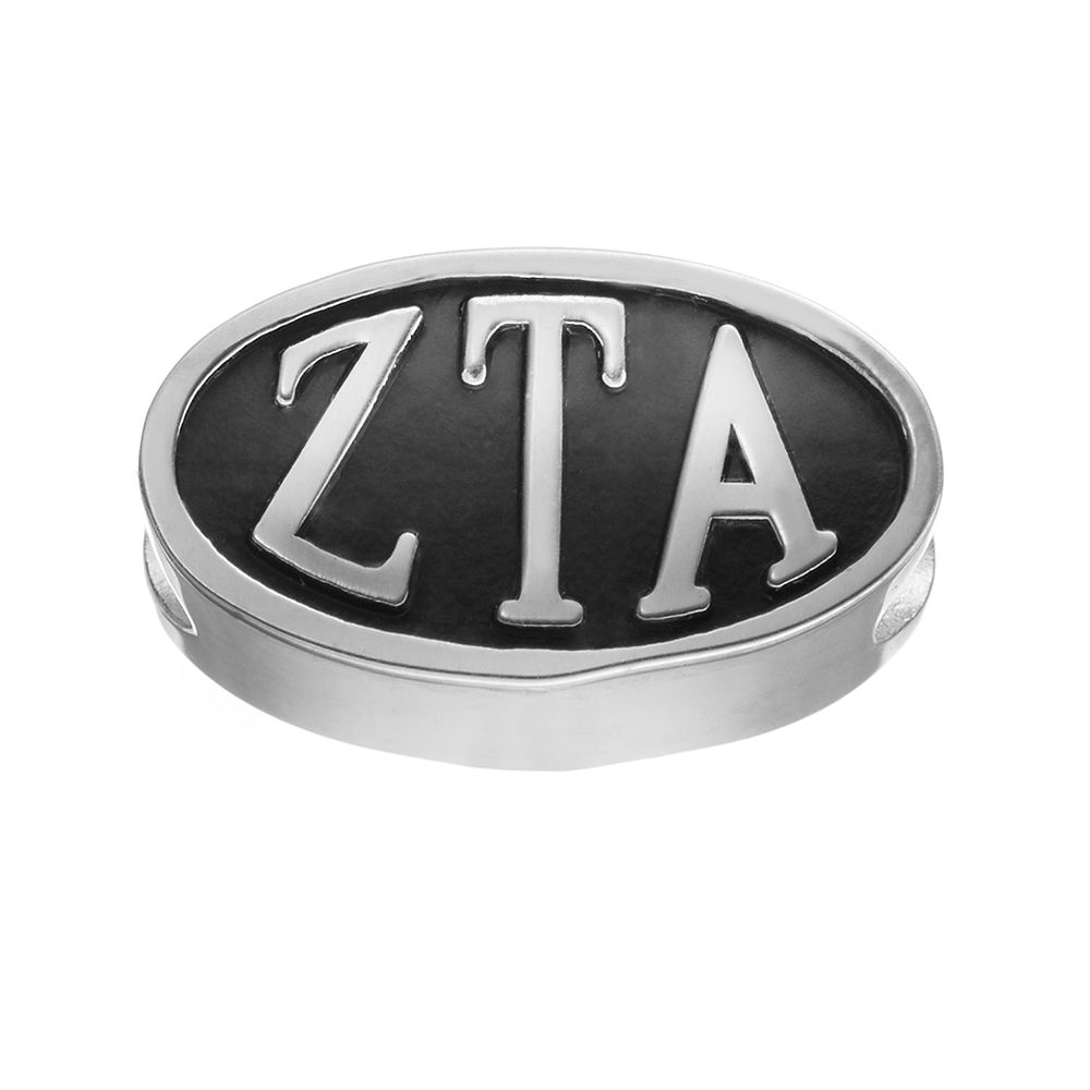 LogoArt Zeta Tau Alpha Sterling Silver Oval Bead