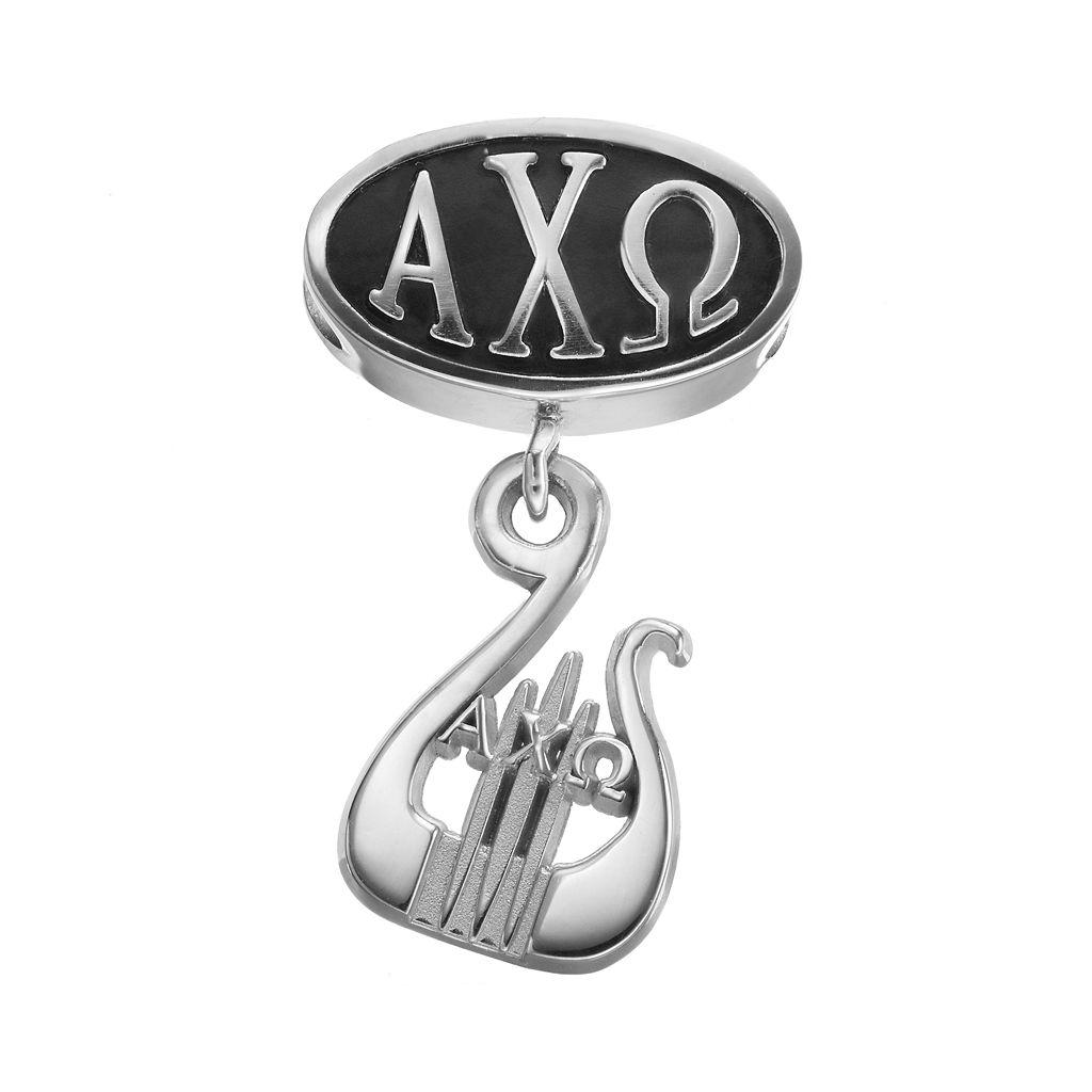 LogoArt Alpha Chi Omega Sterling Silver Sorority Symbol Charm