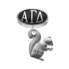 LogoArt Alpha Gamma Delta Sterling Silver Sorority Symbol Charm