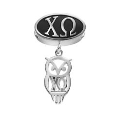 LogoArt Chi Omega Sterling Silver Sorority Symbol Charm