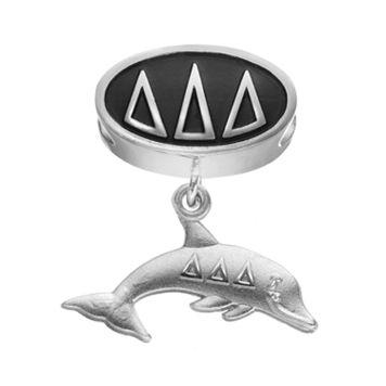 LogoArt Delta Delta Delta Sterling Silver Sorority Symbol Charm