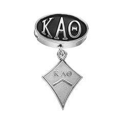 LogoArt Kappa Alpha Theta Sterling Silver Sorority Symbol Charm