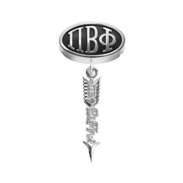 LogoArt Pi Beta Phi Sterling Silver Sorority Symbol Charm