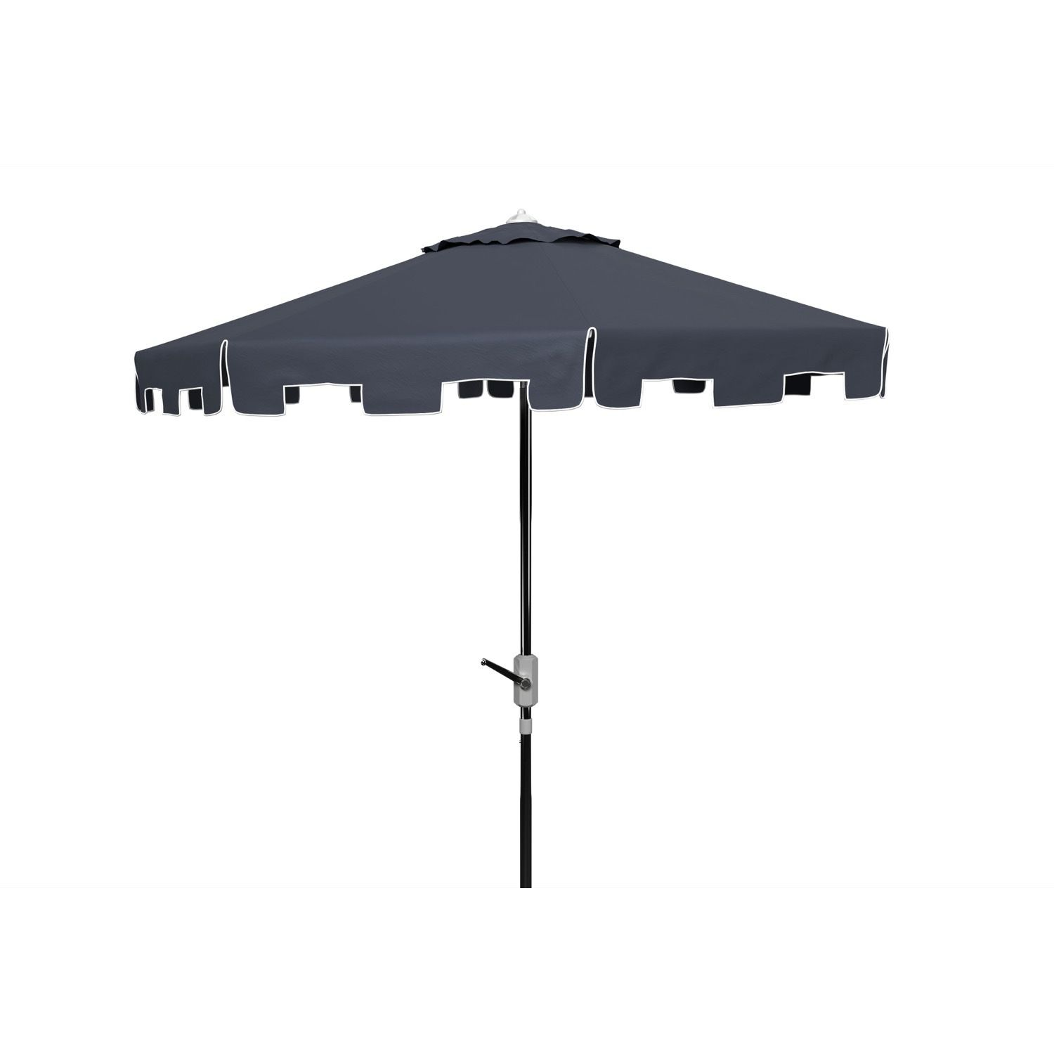 Market Umbrella. Black Gray Blue Navy