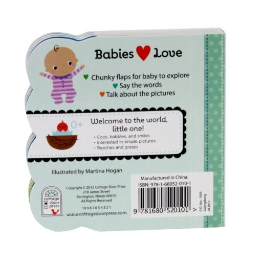 Babies Love Animals Lift-A-Flap Book by Cottage Door Press
