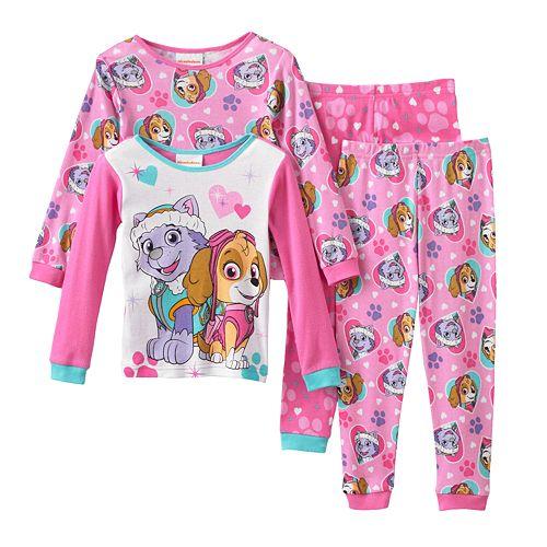 Girls Paw Patrol Short Pajamas Pjs Nightwear Size 4-5 Years