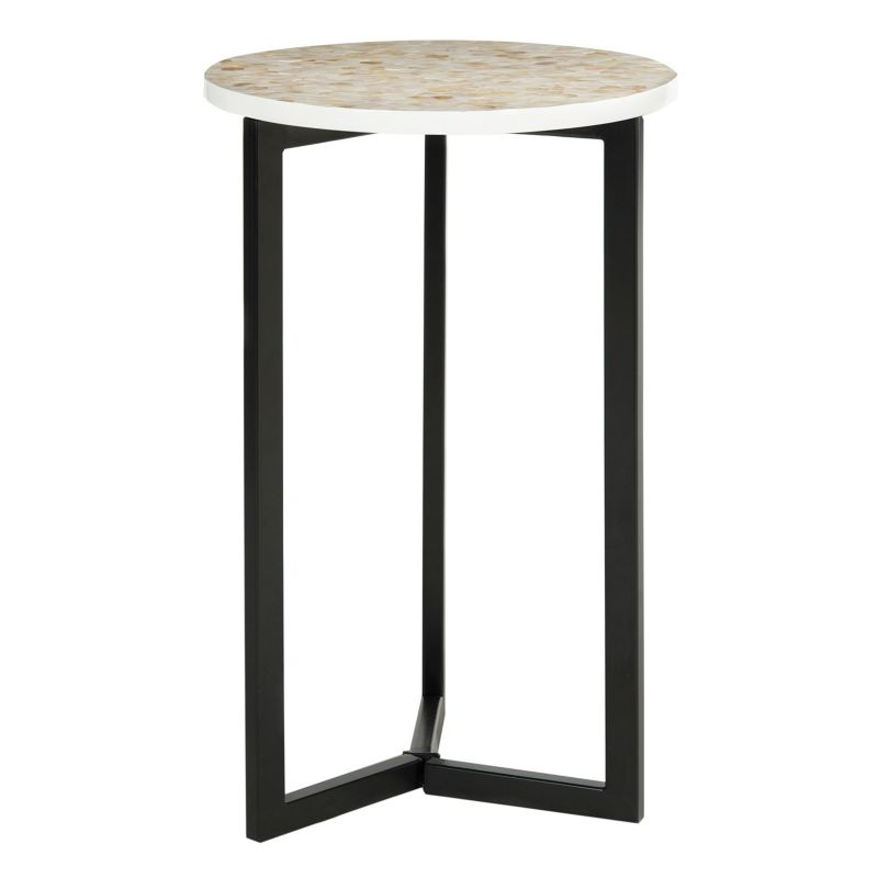 Safavieh Zaira Shell End Table, White