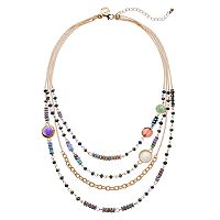GS by gemma simone Earth Goddess Collection Bead Multistrand Necklace