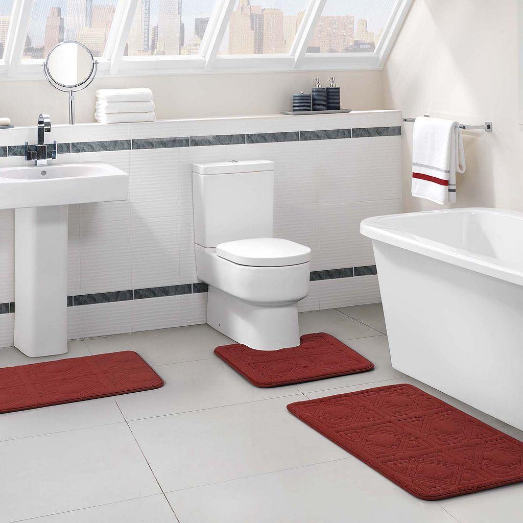 VCNY Byzantine 3-pc. Memory Foam Bath Rug Set