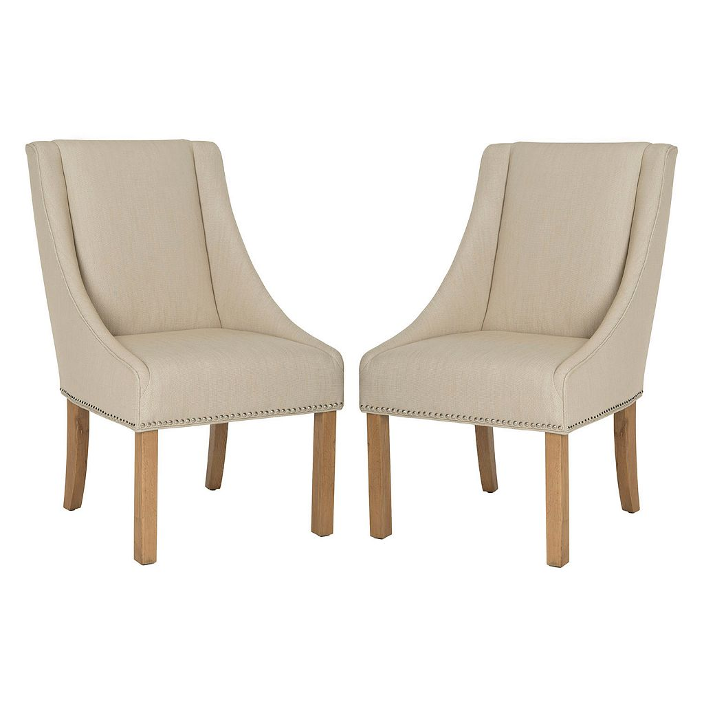 Safavieh Morris 2-piece Sloping Arm Dining Chair Set