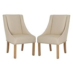Safavieh Morris 2-piece Sloping Arm Dining Chair Set