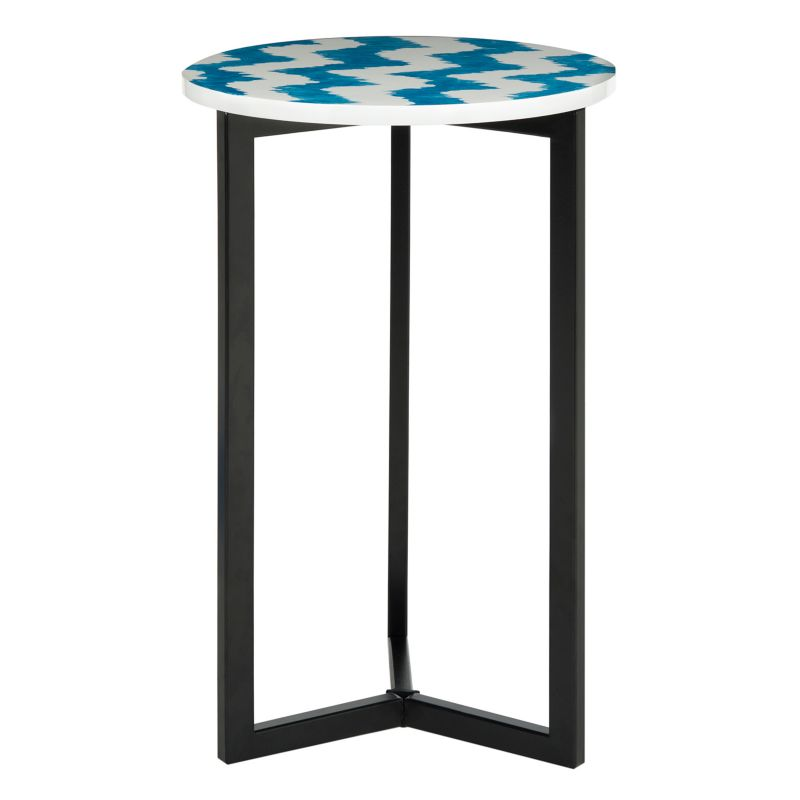 Safavieh Zaira Ikat End Table, Blue